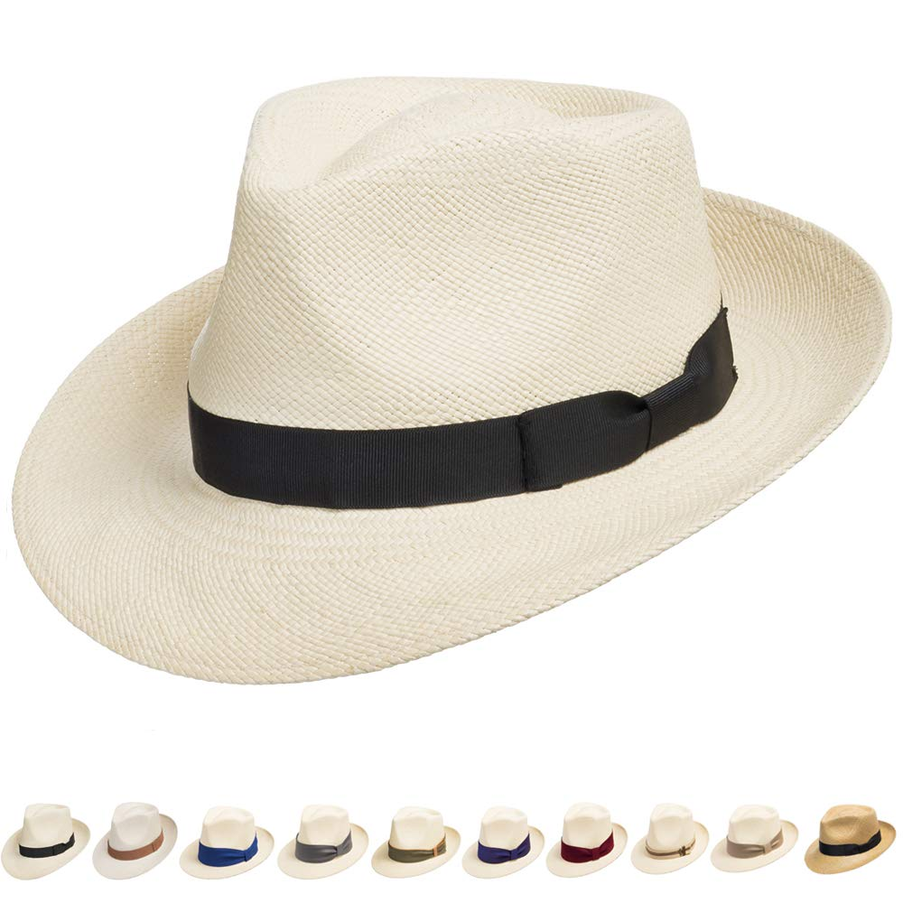 Ultrafino Genuine Havana Retro Panama Straw Hat Classic Lightweight 6 3/4