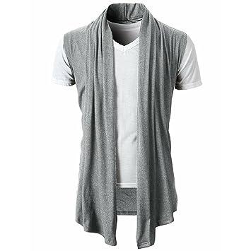 LuckyGirls Camisa Camisetas Originales Hombre Sin Manga Verano Color Puro Cardigan Moda Polos Deportivas Blusa Casuales Slim Remera 1 Pcs… 7CQO7tkk5