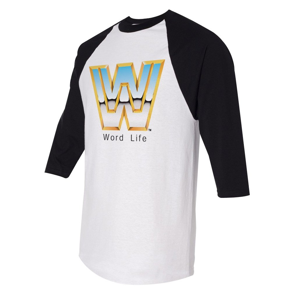 John Cena Word Life Half Sleeve Raglan WWE Authentic Mens T-shirt-L by WWE Authentic Wear