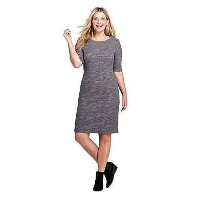 Lands\' End Women\'s Plus Size Ponte Knit Sheath Print Dress ...