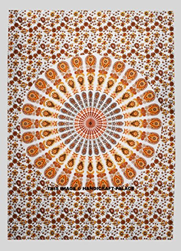 Indian Handmade Tapestry Mandala Hippie Cotton Poster Yoga Mat Wall Decor Wall Hanging 42×30 Inch BY Handicraft-Palace