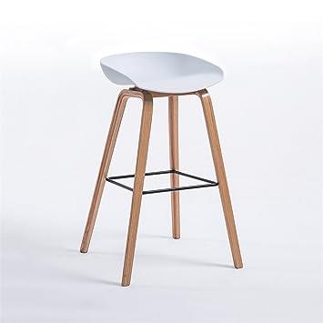 Chaise De Bar Tabouret Haut Moderne Minimaliste Loft Style Blanc