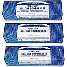 Toothpaste Peppermint Dr. Bronner's 5 oz Paste Pack of 3 (3) by Dr. Bronner's