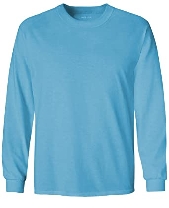 Amazon.com  Joe s USA Youth Long Sleeve Cotton T-Shirts in 20 Colors ... 7526db3eafb
