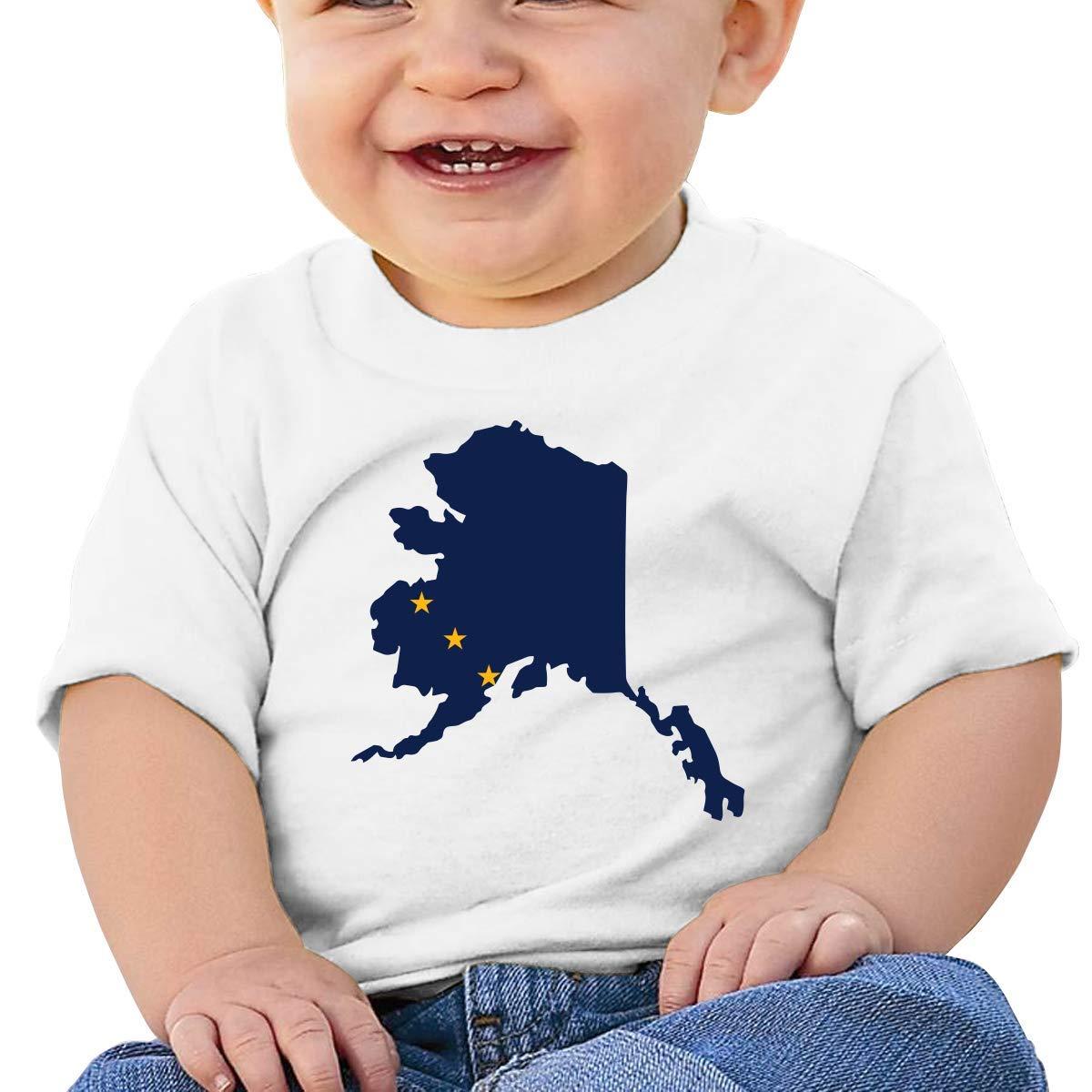 ZhuHanug Moose Rasta Flag Baby Boys Girls Short Sleeve Crew Neck T Shirts