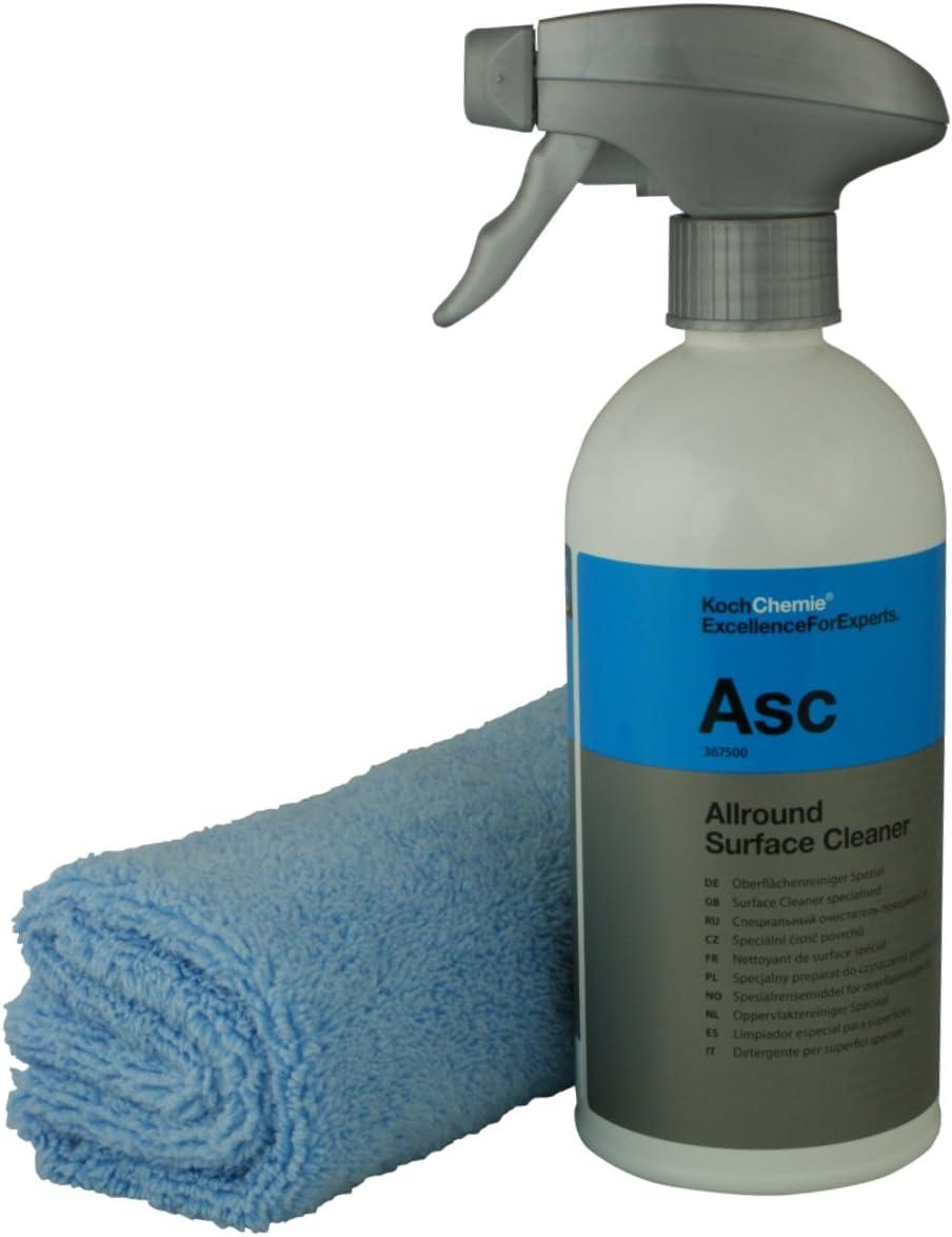 Koch Chemie Asc Allround Surface Cleaner 500 Ml Inkl Microfasertuch Auto