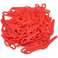 Grastrimmer-messen, 100 stuks rood reservemessen maaien accu-grastrimmer vaster voor FRT18A FRT18A1 Art 46155 FRT20A1…