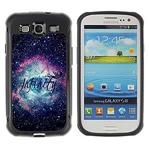 KROKK CASE Samsung Galaxy S3 I9300 - infinity universe space nebula stars - Funda Carcasa Bumper con Absorción de Impactos y Anti-Arañazos Espalda Slim Rugged Armor