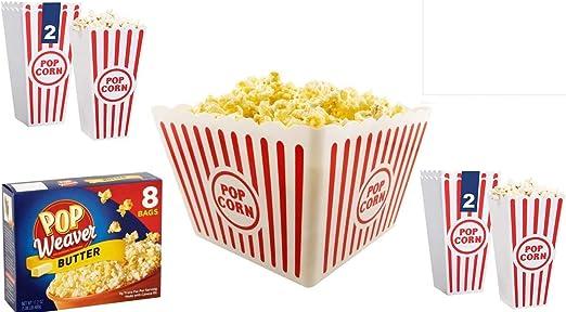 Recipiente para palomitas popcorn bucket – plástico (6 unidades ...