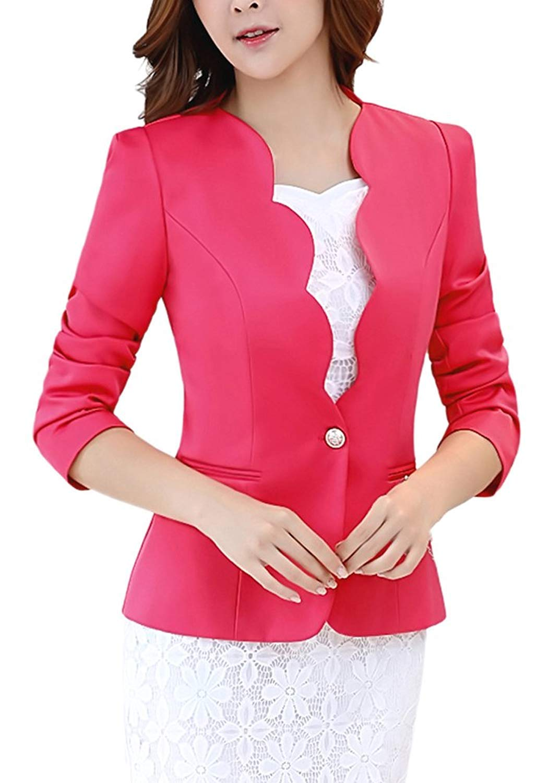 LATUD Women's One Button Blazer Jacket Suit