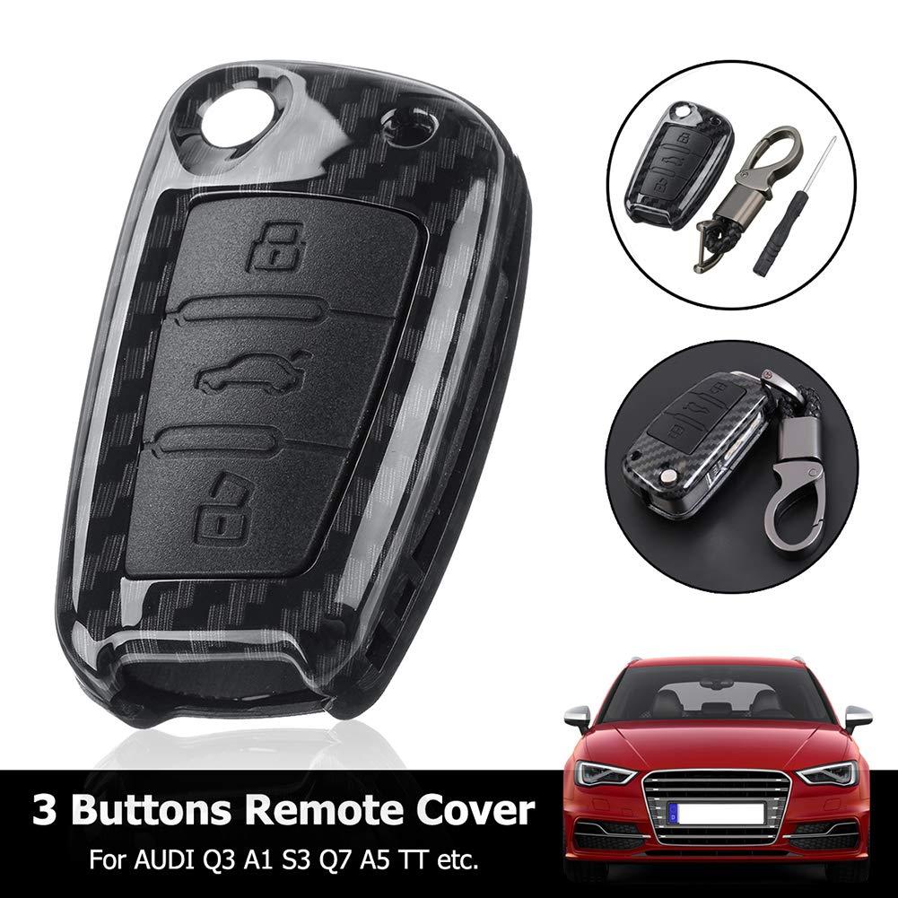 Llavero con tapa para mando a distancia de coche para Audi ...