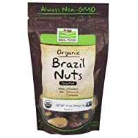 Now Foods Certified Organic Brazil Nuts, Whole, Raw and Unsalted, Source of Selenim...