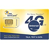 OneSimCard Universal 3-in-one SIM Card for use in Over 200 Countries with US $5 credit – Voice, Text and Mobile Data as…