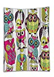 Chaoran Tablecloth Kids Bathroom by Owl Decor Owls Eyes with Funny Cute Best Friends Forever Animal Themed Decor Babies Nurse Nursery Fun Decor Fuchsia Green Turquoise Dark Purple Holiday Home Decorat