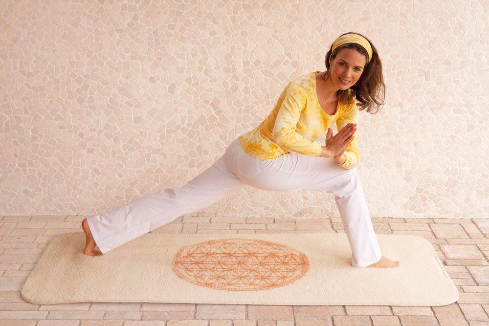 Yogamatte aus Schurwolle