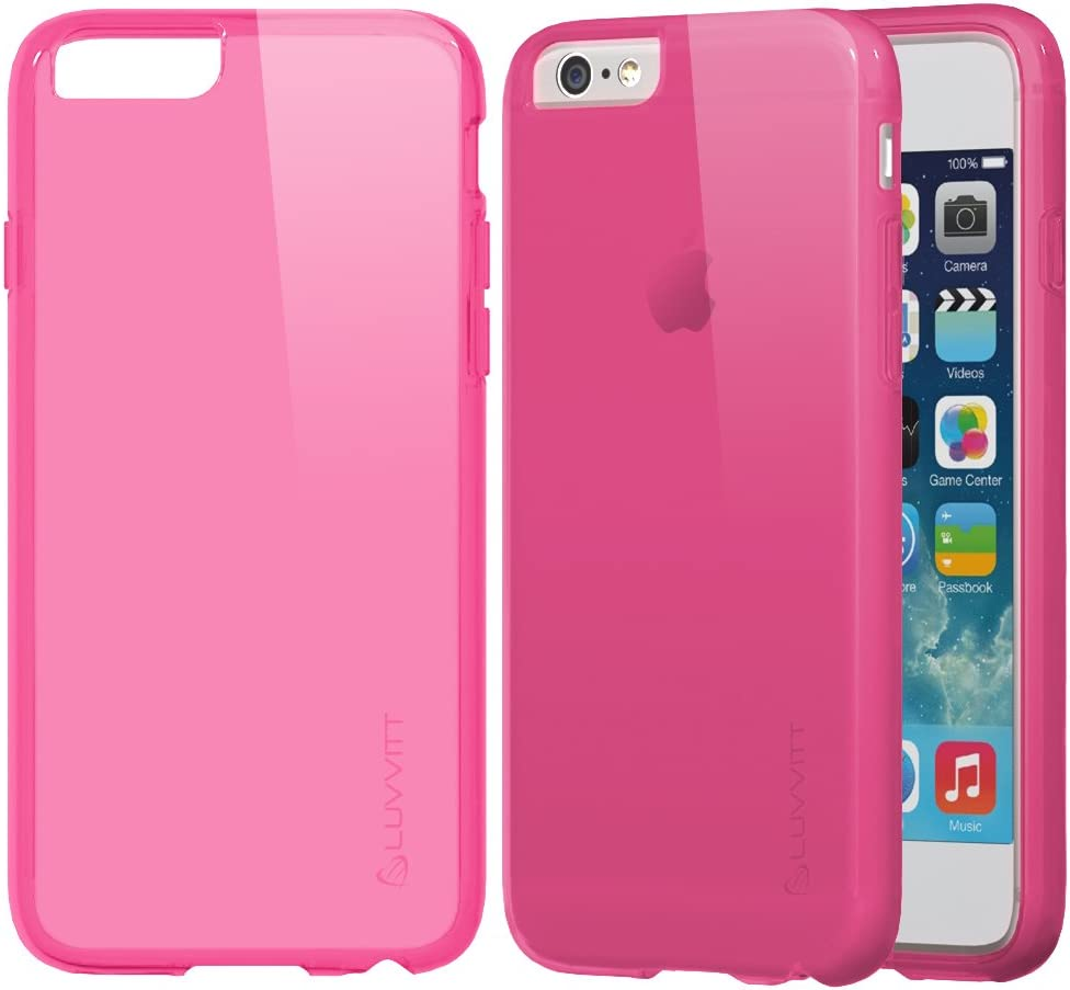 iPhone 6s Case, LUVVITT [Frost] Soft Slim Transparent TPU Rubber Case Flexible Shock Absorbing Cover for Apple iPhone 6 / 6s (4.7) - Transparent Pink