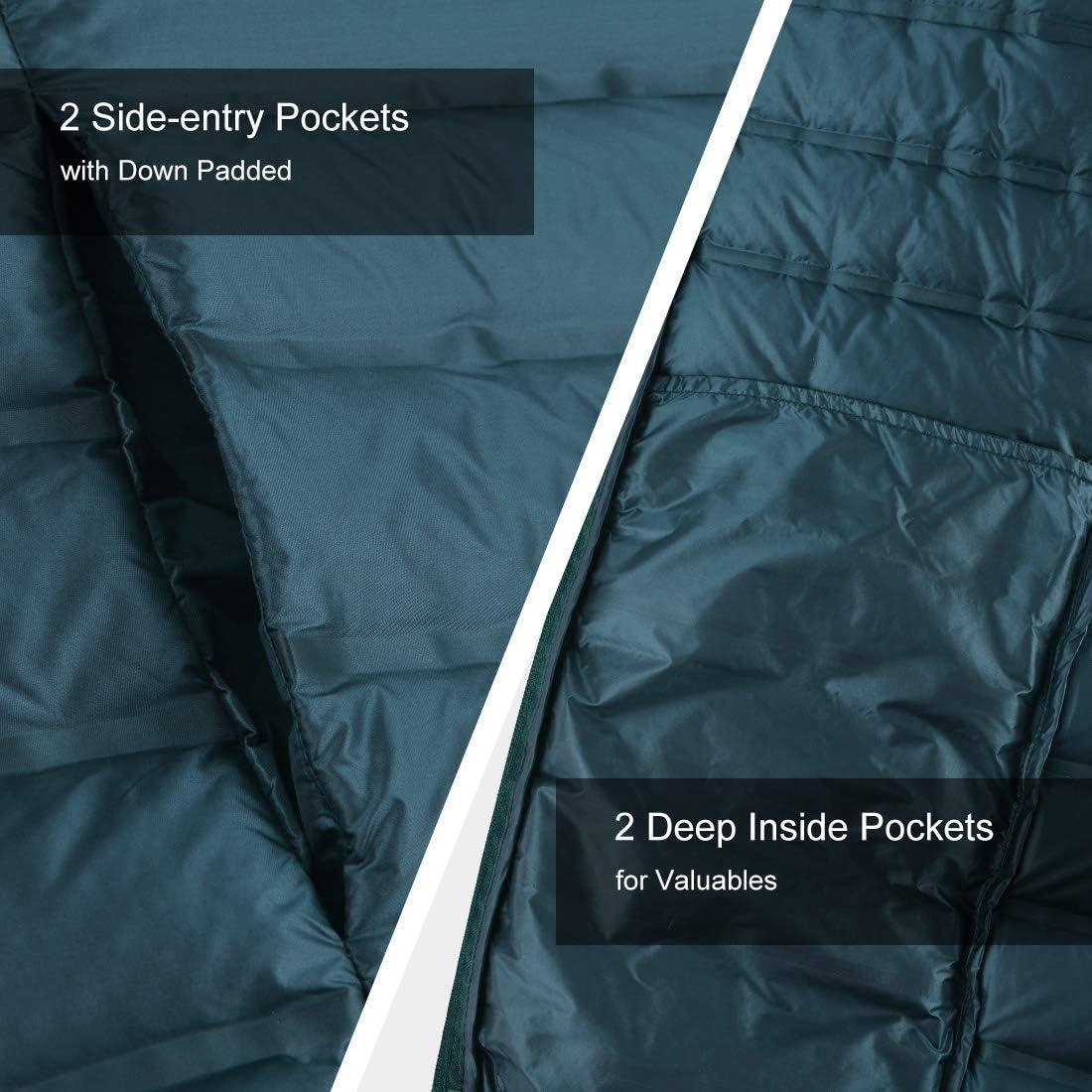 Lesmart Men/'s Down Jacket Lightweight Packable Puffer Winter Jacket Water-Resistant Outdoor Down Coat