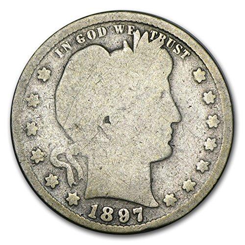 1897 S Barber Quarter Good Quarter Good
