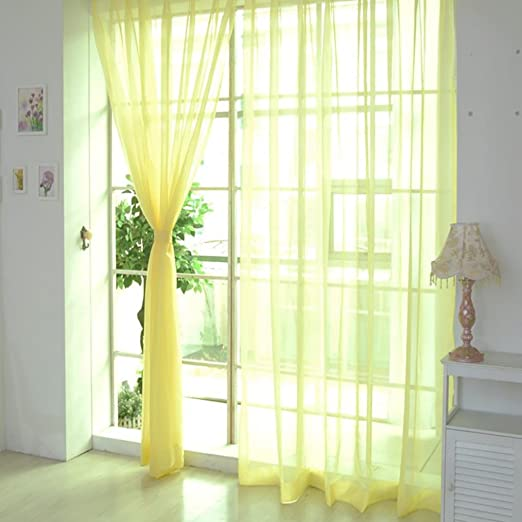 STRIR 1 unids tul blanco puro puertas y ventanas cortinas bufandas cortinas A 200cm x 100cm