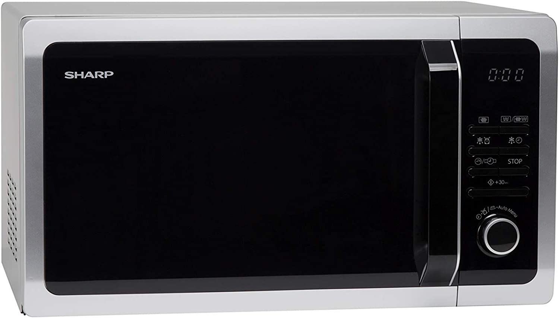Sharp R743S Encimera, 900 W, 25 litros, Acero Inoxidable, Plata