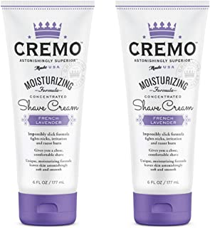 product image for Cremo French Lavender Moisturizing Shave Cream, Astonishingly Superior Ultra-Slick Shaving Cream for Women Fights Nicks, Cuts and Razor Burn, 6 Oz (2-Pack)