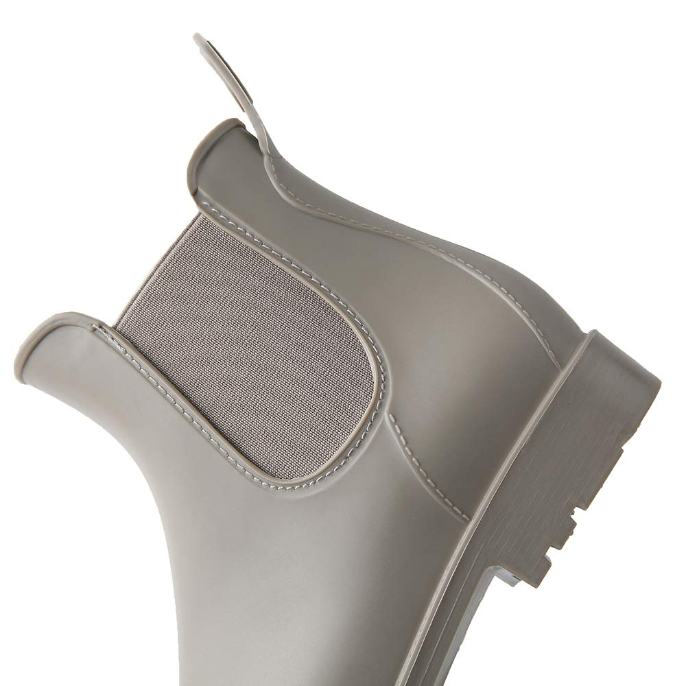 Botas Agua Mujer de Lluvia Botines Goma Planos Comodos Botas Chelsea de Oto/ño Moda Cl/ásico Retro Impermeable Tacon 2.3 CM Negro Marr/ón 35-43