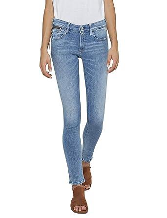 e3323b6da4f Replay Luz Coin Zip Jean Skinny Bleu (Light Blue 10)