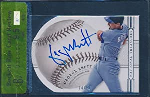 2014 Panini National Treasures Autograph 4/10 #37 George Brett Beckett 9.5 37624
