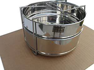 3 Quarts STEAMER INSERT Pan for IP ELECRIC PRESSURE COOKER or REGULAR PRESSURE COOKER ACCESSORIES With 2 insert pans & Vent Holes to Equalize Steam - Cook Vegetables, Meat, Fish, Rice