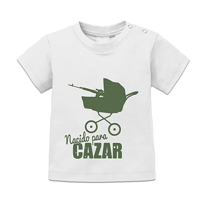 Camiseta de bebé Nacido para cazar by Shirtcity: Amazon.es ...
