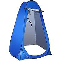 Coolty Pop-up toilettent, omkleedtent, draagbaar, camping, douchetent, mobiele omkleedcabine, opslagtent (blauw)