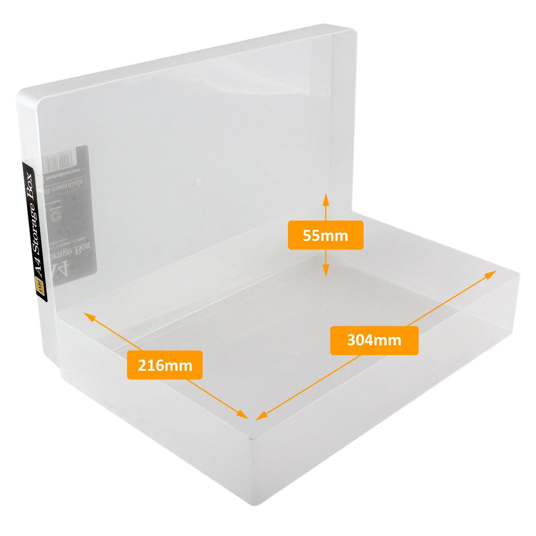 Westonboxes Aufbewahrungsboxen A4 Kunststoff Transparent 1 Stuck
