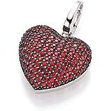 Spirit - New York Damen-Anhänger 925 Silber rhodiniert Glas rot Brillantschliff - 98000393