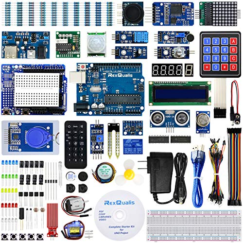 REXQualis Arduino UNO R3 Complete Starter Kit w/Detailed Tutorial for Arduino UNO (Best Arduino Starter Kit)