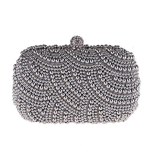 Clutch Wallets bag evening cool bag Silver Pearl handbags party Delicate OAg46O
