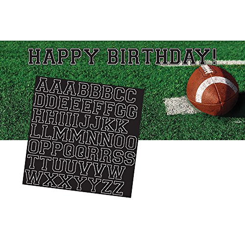 - Creative Converting 296151 Tailgate Rush Giant Party Banner with Stickers