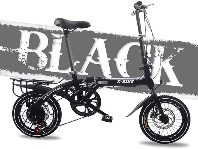 Grimk Bicicleta Plegable De 16 Pulgadas De Aluminio para Unisex Adultos, Niños, Viaje Urban Bici Ajustables Manillar Y Confort Sillin,Capacidad 120kg: Amazon.es: Deportes y aire libre