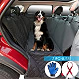 2ME Pet Seat Cover Dog Seat Cover Car Seat Cover for Most US Cars – Luxury Waterproof - Scratch Proof - Nonslip Backing & Hammock Function - Amazing Bonuses – One Pet Grooming Glove & One Dog Seat Belt