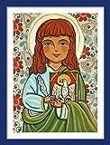 Saint John Evangelist print St John print Saint John painting Saint picture Catholic art Catholic saint print Catholic painting Catholic print Patron saint First communion gift Catholic gift