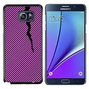 Stuss Case / Funda Carcasa protectora - Líneas Patrón Negro Rosa Púrpura - Samsung Galaxy Note 5 5th N9200