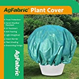 Agfabric Plant Cover Warm Worth Frost Blanket - 1.5 oz Fabric of 8'Dia Shrub Jacket, 3D Dome Plant Cover for Season Extension&Frost Protection,Dark Green