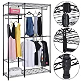 48''x18''x71'' Closet Organizer Garment Rack Portable Clothes Hanger Home Shelf