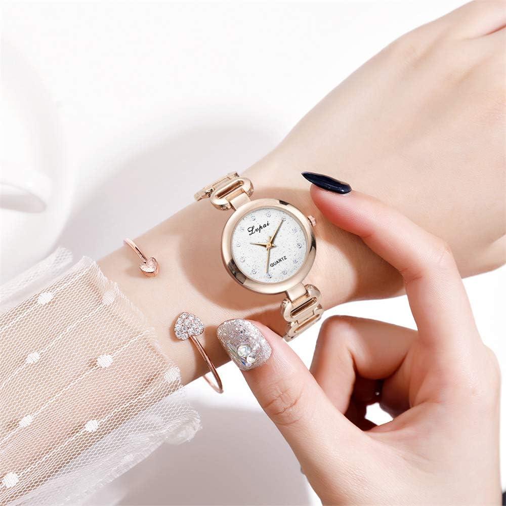 Orologio da donna al quarzo moda braccialetto classico da donna 2020 nuovo orologio da polso cinturino in acciaio orologio da donna Oro1