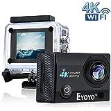 """Boblov SJ9000 4K HD WiFi Impermeable Cámara de Acción Deportiva con 2.0 """"LCD 16MP DVR Videocámara video de Buceo+ Batería Extra(Negro)"""