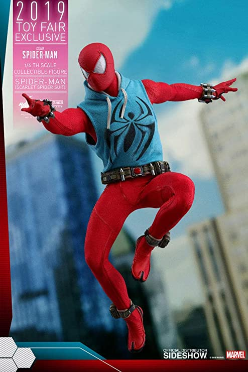 Amazon Com Hot Toys Vgm 34 Marvel S Spider Man Scarlet Spider Suit 1 6 Action Figure New Toys Games