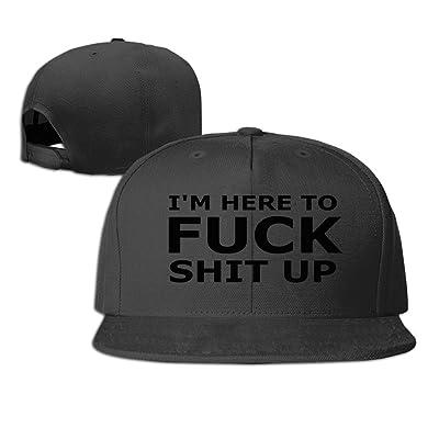 MaNeg Shit Up Unisex Fashion Cool Adjustable Snapback Baseball Cap Hat One Size