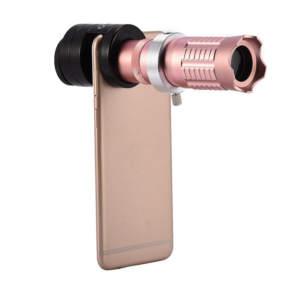 Handy Kamera Objektiv Kit, VBESTLIFE Universal 14X Teleobjektiv Optisches Zoom Tele Teleskop Objektiv für Mobiltelefon Kamera (schwarz)