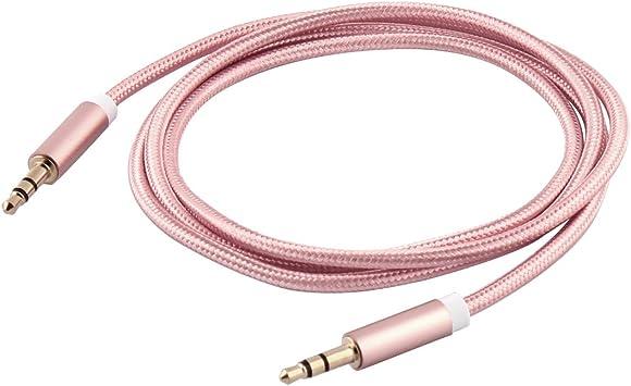 sourcing map Sourcingmap® Coche Audio Smartphone Nylon Trenzado del Cable de Alambre de 3,5 mm Macho a Macho 1M 3,3 pies de Largo: Amazon.es: Electrónica