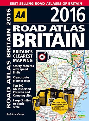 road atlas britain 2016 aa road atlas aa publishing 9780749576882 amazoncom books