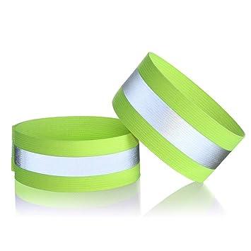 Wuudi 1/Paar Reflektierende Sicherheits Armband Liefern Outdoor Sports Zubeh/ör Licht Armband Sport Sicherheits Armbinden